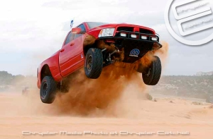 The 2011 Mopar Ram Runner catching some air