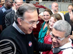 Sergio Marchionne with Tony Al-Abawi, SHAP Team Leader