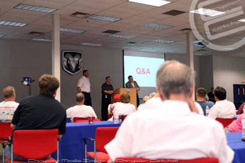 Q & A at the Warren Truck Plant