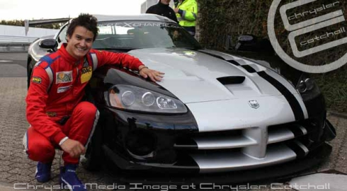 Dominik Farnbacher in his 2010 Dodge Viper SRT10 ACR
