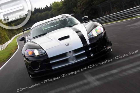 Dominik Farnbacher in his 2010 Dodge Viper ACR