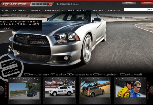 Screenshot of the new RedLineDodge.com