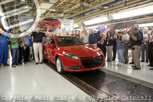 First 2013 Dodge Dart off the Line
