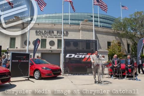 Dodge CEO Reid Bigland addresses Dealers at Chicago's Soldier Field